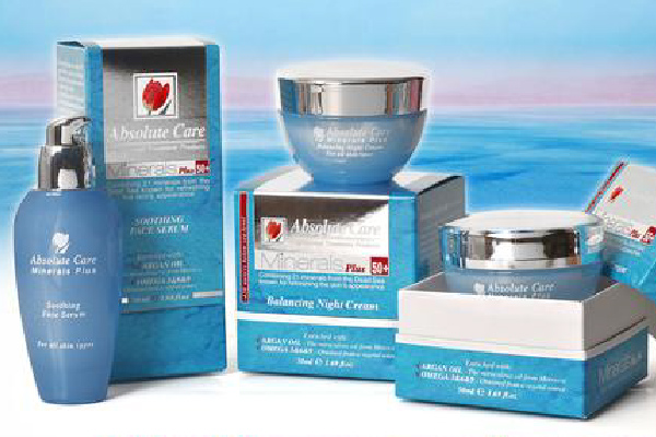 Absolute Care Minerals line from cosmetic manufacture in EU