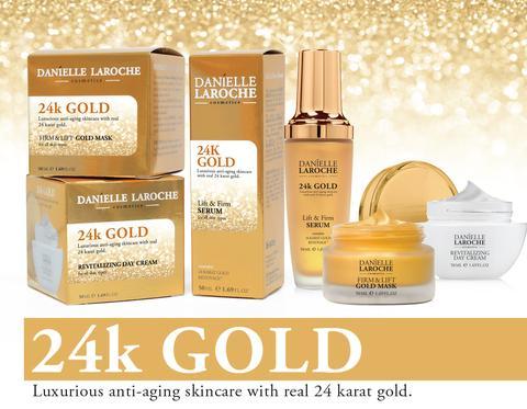 Danielle Laroche 24K Gold line from cosmetic manufacture in EU