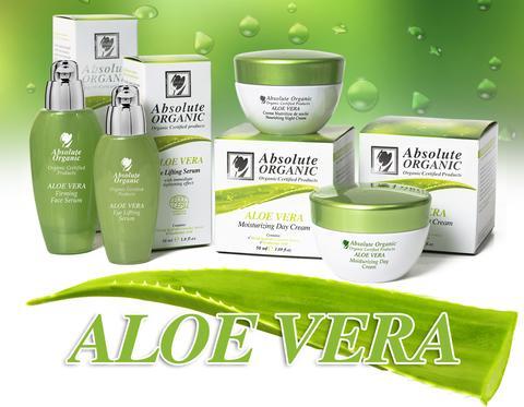 Absolute Organic Aloe Vera line from cosmetic manufacture in EU