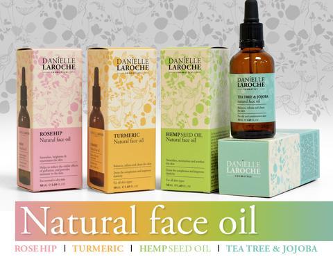 Danielle Laroche natural face oil line from cosmetic manufacture in EU