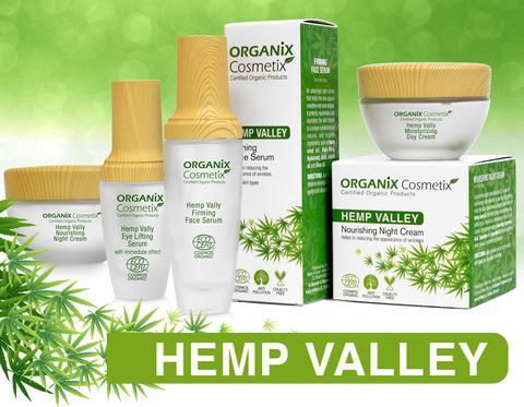 Organix Cosmetix Hemp Valley line from cosmetic manufacture in EU