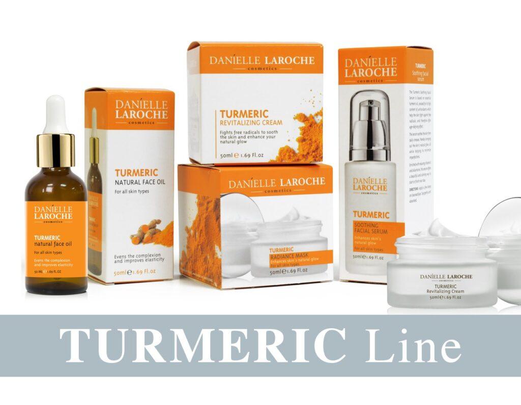 Danielle Laroche Turmeric line from cosmetic manufacture in EU